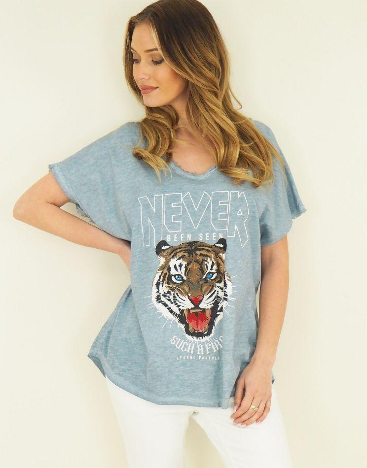 Vintage Cotton Top - Tiger...