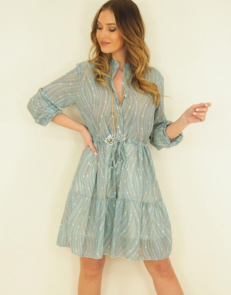 Palm Dress - Buttoned...