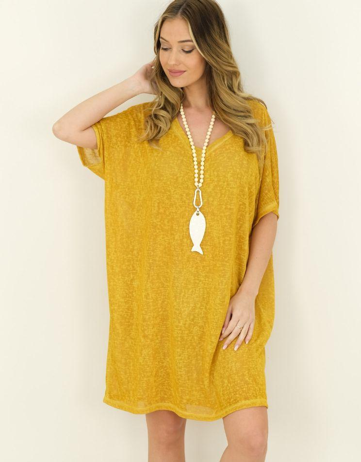 Gas Look T-shirt Dress -...