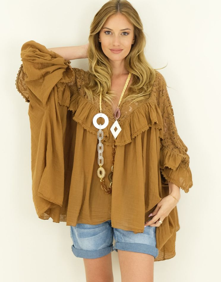 Lacy Cotton Tunic I CLELIA