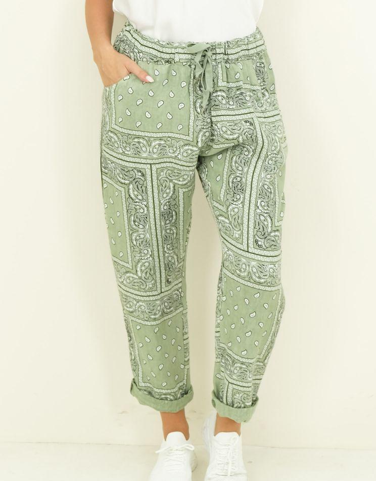 Linen Bandana Trousers - 4...