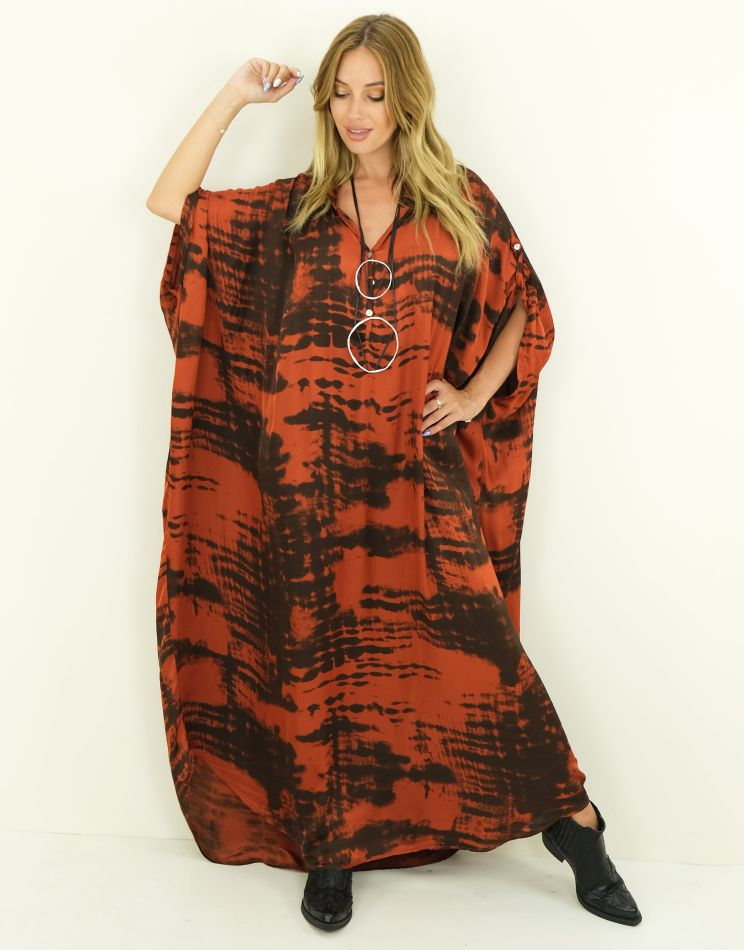 Oversized Silk Dress -...