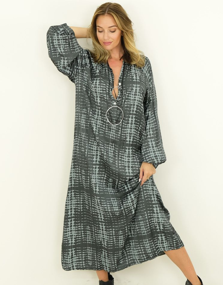 Silk Dress - Buttoned...