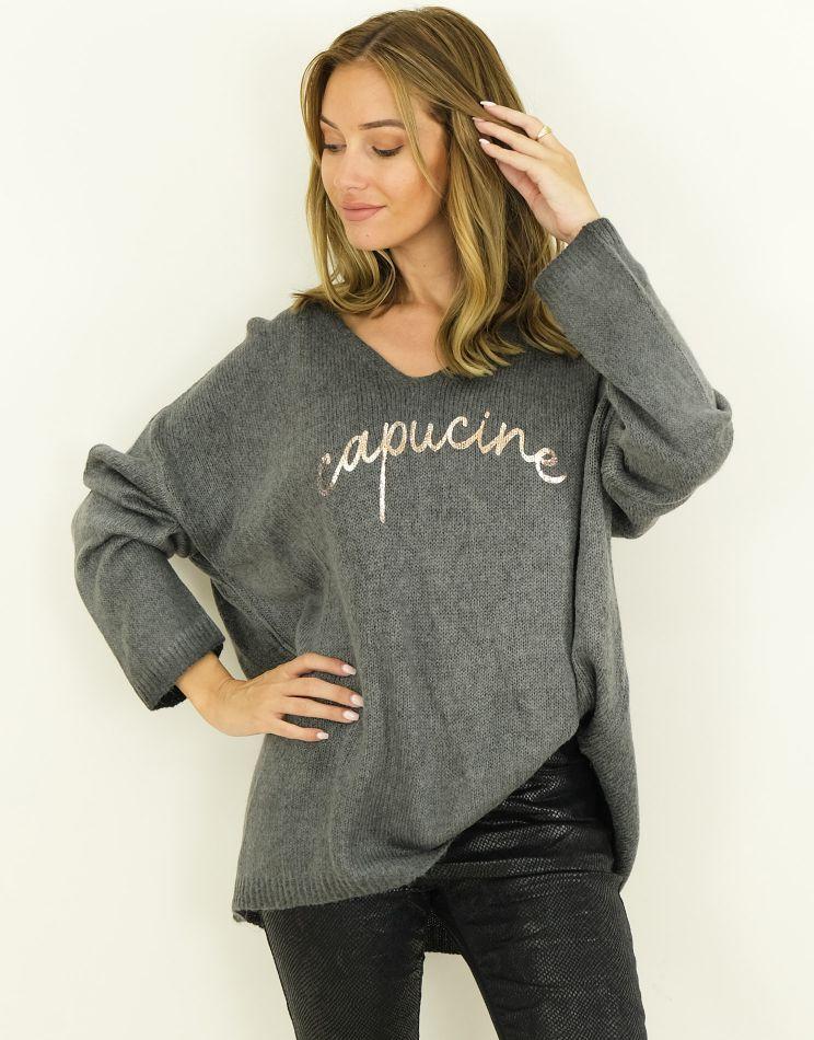 Oversized Mohair Sweater -...