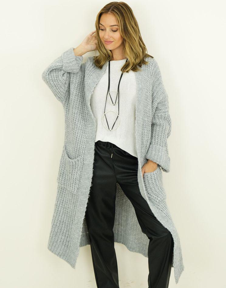 Oversized Wool Cardigan - 2...