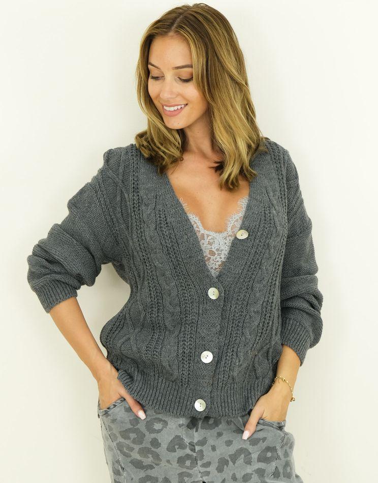 Twisted Wool Cardigan -...