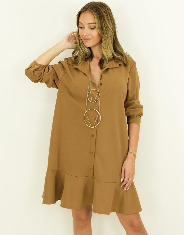 Oversize Dress - Ruffle...