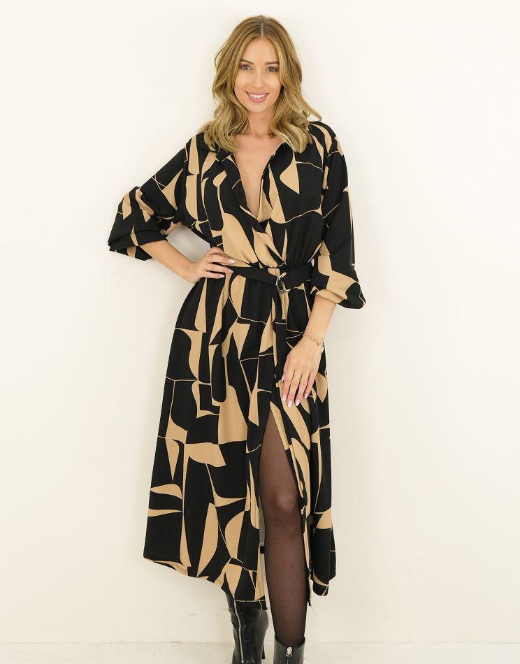 Wrap Dress - Geometric,...