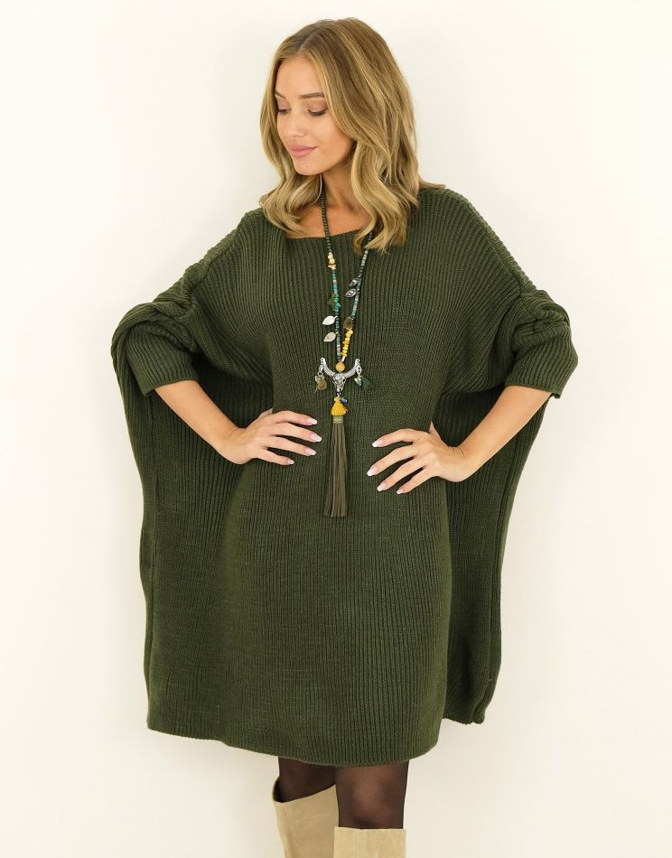 Robe Pull Laine Oversize |...
