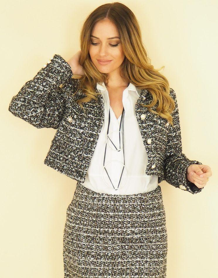 Iridescent Wool Look Jacket...