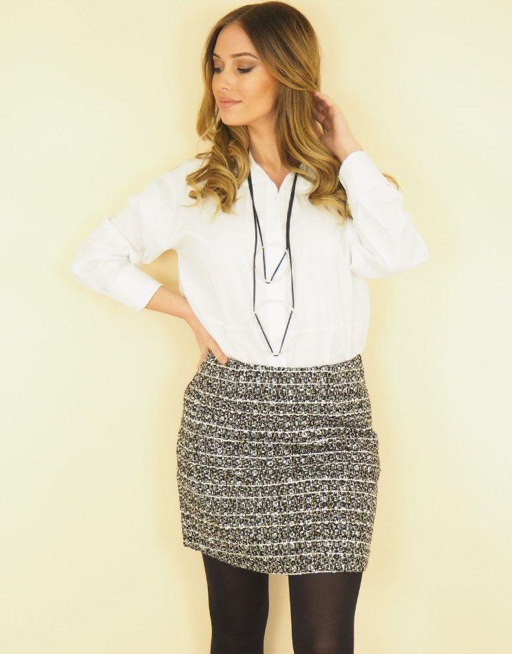 Iridescent Wool Look Skirt...