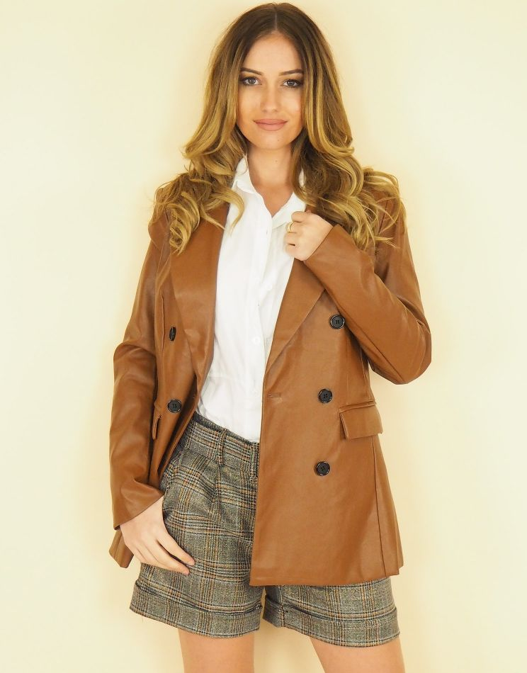Faux Leather Jacket I ELSA